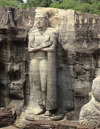 Gal Vihara Stone Shrine Polonnaruwa Sri Lanka