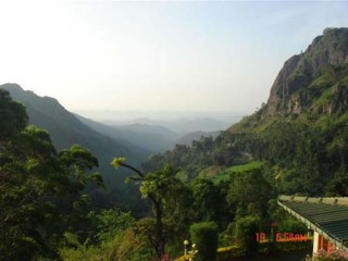 A view of Ella from Mountain Heavens Hotel
