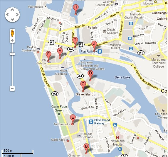 Colombo Rooms Colombo Hotels Map Sri Lanka Hotel Guide