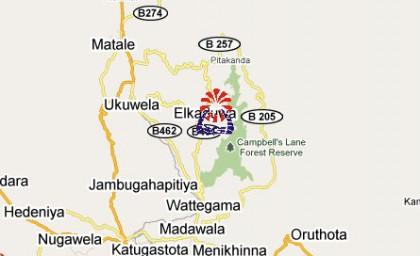Sri Lanka_Kandy_Hunas Falls_Map