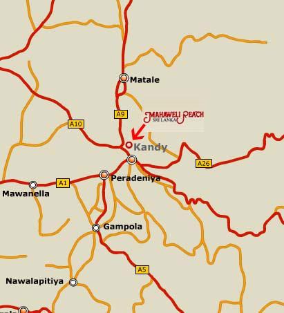 Sri Lanka-Kandy-Mahaweli Reach-map