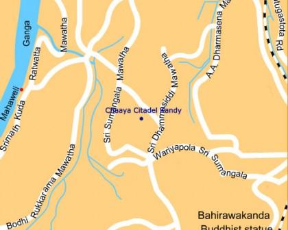 Sri Lanka_Kandy_ChaayaCitadel_Map