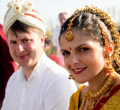 The First wedding at Malu Malu: Olga Yurievna Gorbacheva married Vladimir Alexandroich Luchakovskiy on 18th February 2012