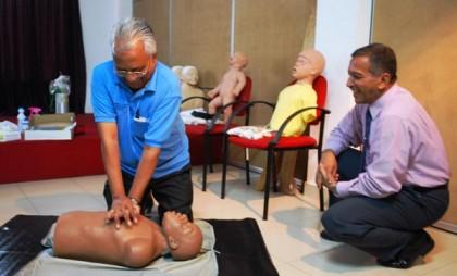 CPR training at Med1
