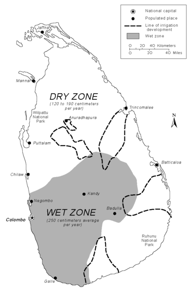 Sri Lanka Rainfall Map